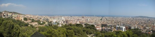 Barcelona from Parc Gaudi